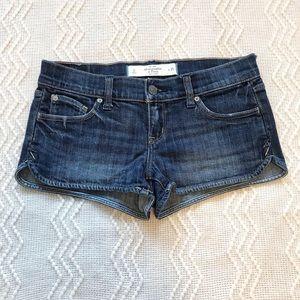 Abercrombie Denim Shortie Shorts